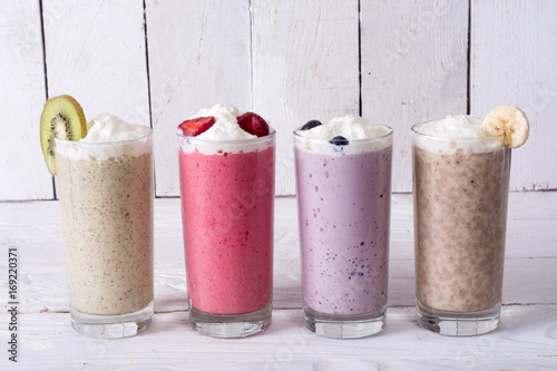 Foto op Aluminium Milkshake Milk shake with berries