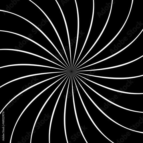 Circular geometric motif. Abstract grayscale op-art element - 169229176