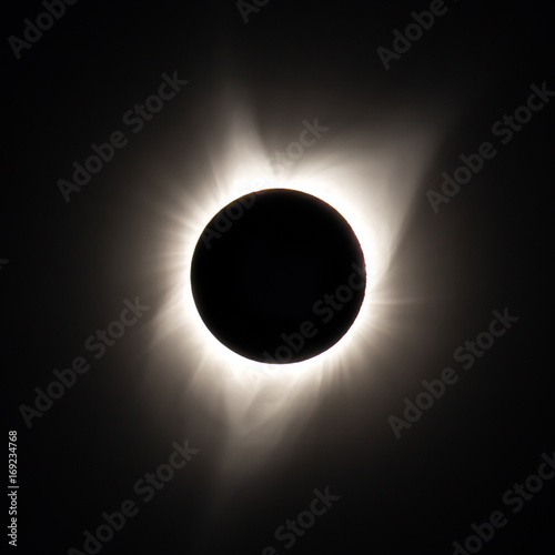 Fotobehang Heelal TOTALITY - Full Solar Eclipse 2017 - Ochoco National Forest, Oregon