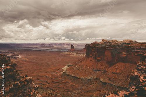Fotobehang Diepbruine Orange Rock Formations in Canyonlands National Park