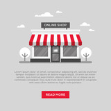 Storefront illustration in flat style - 169241336
