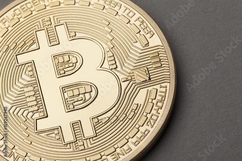 Golden Bitcoin virtual currency coin