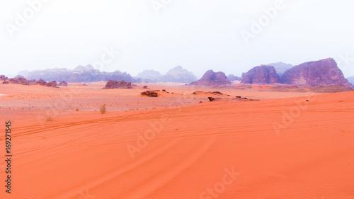 Fotobehang Koraal Wadi Rum desert in Jordan