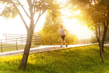 Running on the sunset