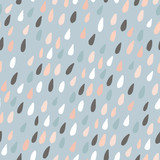 Cute seamless pattern with colorful water drops. Childish texture for fabric, textile.Vector Illustration - 169273315