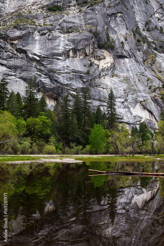 Mirror Lake in Yosemite National Park Poster