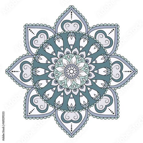 Keuken foto achterwand Vlinders in Grunge Flower Mandalas. Vintage decorative elements. Oriental pattern, vector illustration. Islam, Arabic, Indian, turkish, pakistan, chinese, ottoman motifs