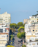 Lombard Street in San Francisco as seen from Russian Hill