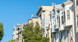 Homes of San Francisco on a steep road - 169298117