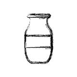 decorative vase icon over white background vector illustration - 169304702