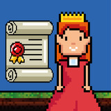 Princess of Video game theme Vector illustration