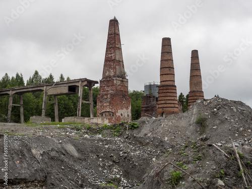 Fotobehang Oude verlaten gebouwen Abandoned factory