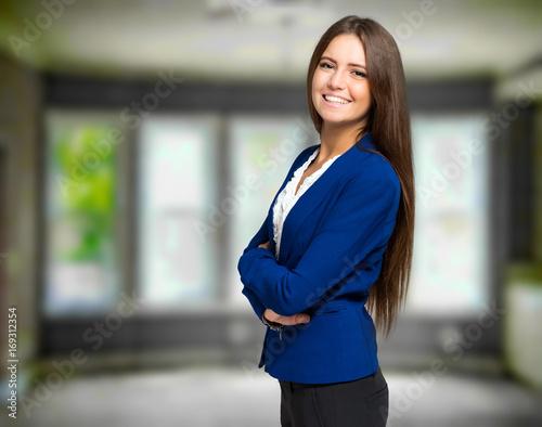 Young secretary portrait