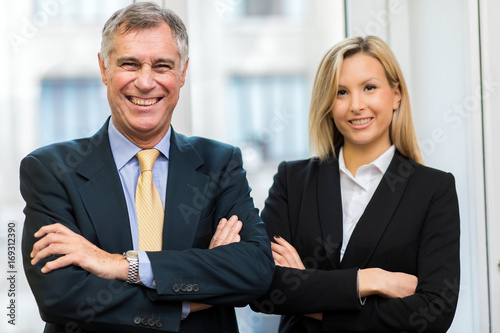 Business partners portrait