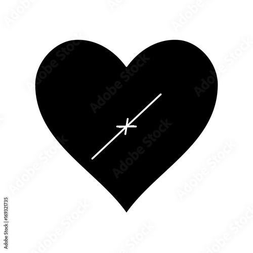 heart icon over white background vector illustration