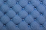 Blue capitone tufted fabric upholstery texture - 169325722