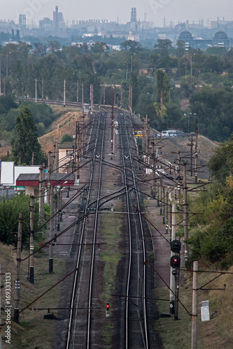 Fotobehang Spoorlijn Railway