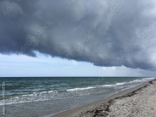 impressive storm approaching Delray Beach, Florida