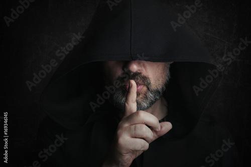 Poster hombre misterioso en halloween
