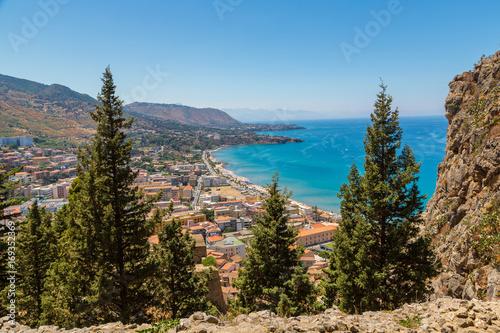 Foto op Plexiglas Cyprus Aerial view of Cefalu in Sicily, Italy