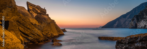 Foto op Plexiglas Zee zonsondergang portovenere