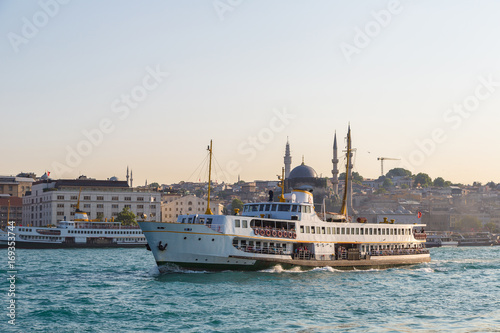 Passenger ship in Istanbul Poster