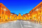 St. Peter's Square and St. Peter's Basilica, Vatican City in the evening time from street Conciliazione (Via della Conciliazione ). - 169361969