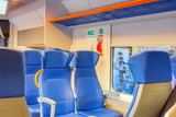 Interior of the high-speed train stand on railways stantion in Rome railways -Termini. - 169362357