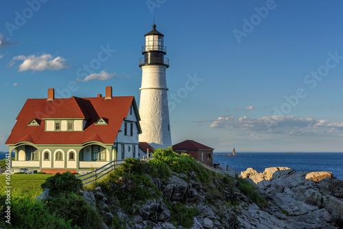 Aluminium Vuurtoren Portland Head Lighthouse in Cape Elizabeth, Maine.