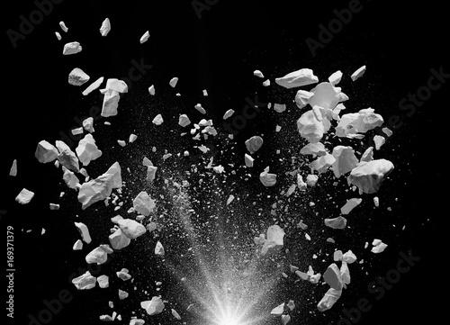 exploding debris