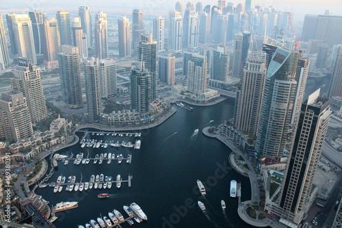 Dubai Marina aerial view Poster