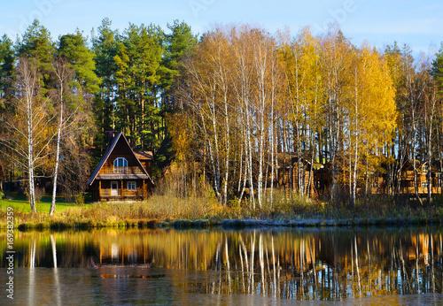 Fotobehang Honing Autumn, beautiful day in fall season