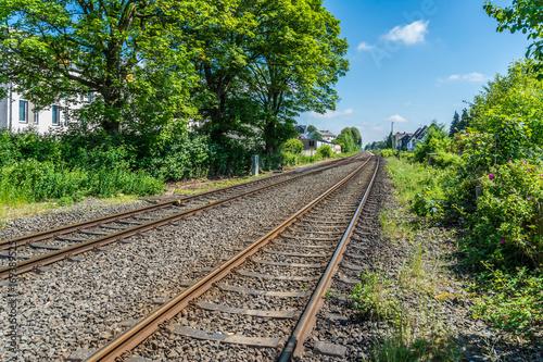 Fotobehang Spoorlijn Bahnstrecke in Fröndenberg