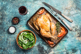 Roasted whole chicken