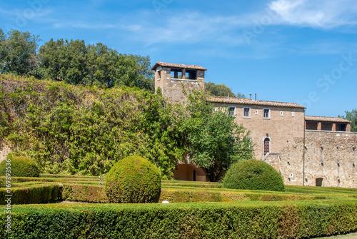 Horti Leonini, giardino pubblico in San Quirico d'Orcia, Toscana, Italia