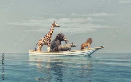 Plakat The wild animals