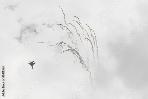 Polish F-16 makes its show during Air Show Radom 2017 in Radom, Poland