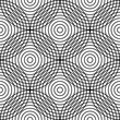 Abstract circle seamless pattern. Repeating circles background. Modern style texture. Vector illustration on white background. - 169427706