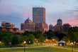Boston Back Bay Skyline at Sunset from the Boston Common Hill