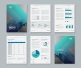 template design for company profile ,annual report , brochure , flyer  ,and page layout with business infographic element, A 4 size, vector editable - 169431353