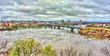 The Ottawa River and Alexandra Bridge in Ottawa, Canada