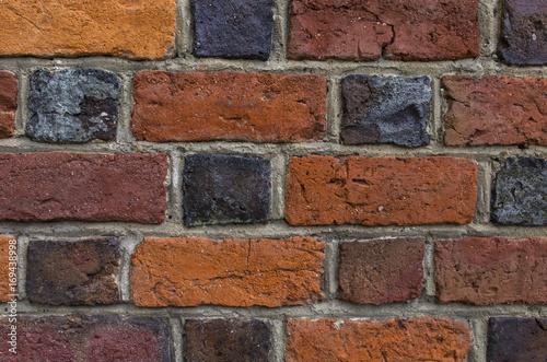 In de dag Średniowieczny mur ceglany - tekstura