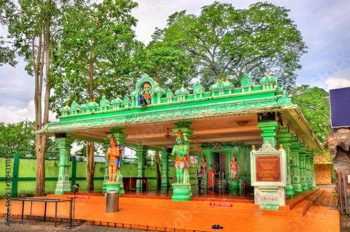 Hindu temple at the Ramayana Cave, Batu Caves in Kuala Lumpur, Malaysia Poster