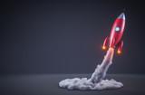 Red rocket launching - 169439981