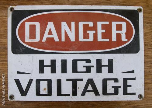 Plakat Danger High Voltage