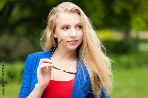 Young woman with sunglasses outdoor