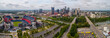 Aerial image Downtown Nashville TN USA