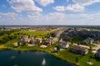 Aerial image residential rural neighborhood in Bettendorf Iowa