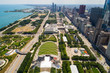 Aerial image of Millennium Park Downtown Chicago
