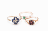 rubies, diamonds and sapphires